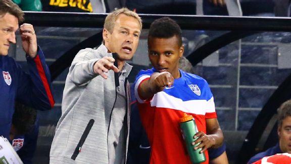 Jurgen Klinsmann and Julian Green