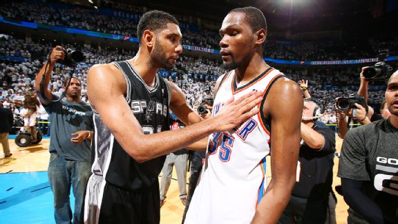 Tim Duncan, Kevin Durant