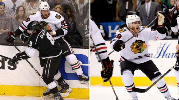 Drew Doughty and Patrick Kane