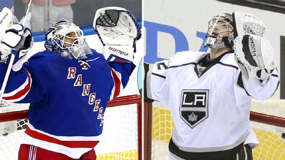 Henrik Lundqvist and Jonathan Quick