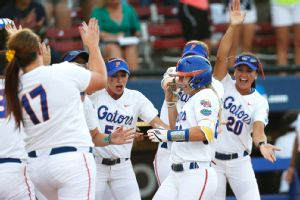 Kirsti Merritt's three-run home run helped the Florida Gators to their first WCWS title.