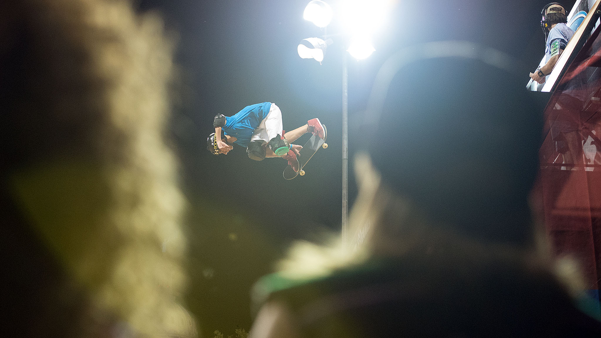 Mitchie Brusco, 17, took bronze in Skateboard Vert.