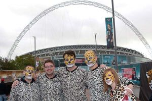 Jacksonville Jaguars fans in London