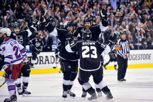 Dustin Brown, Willie Mitchell, Anze Kopitar