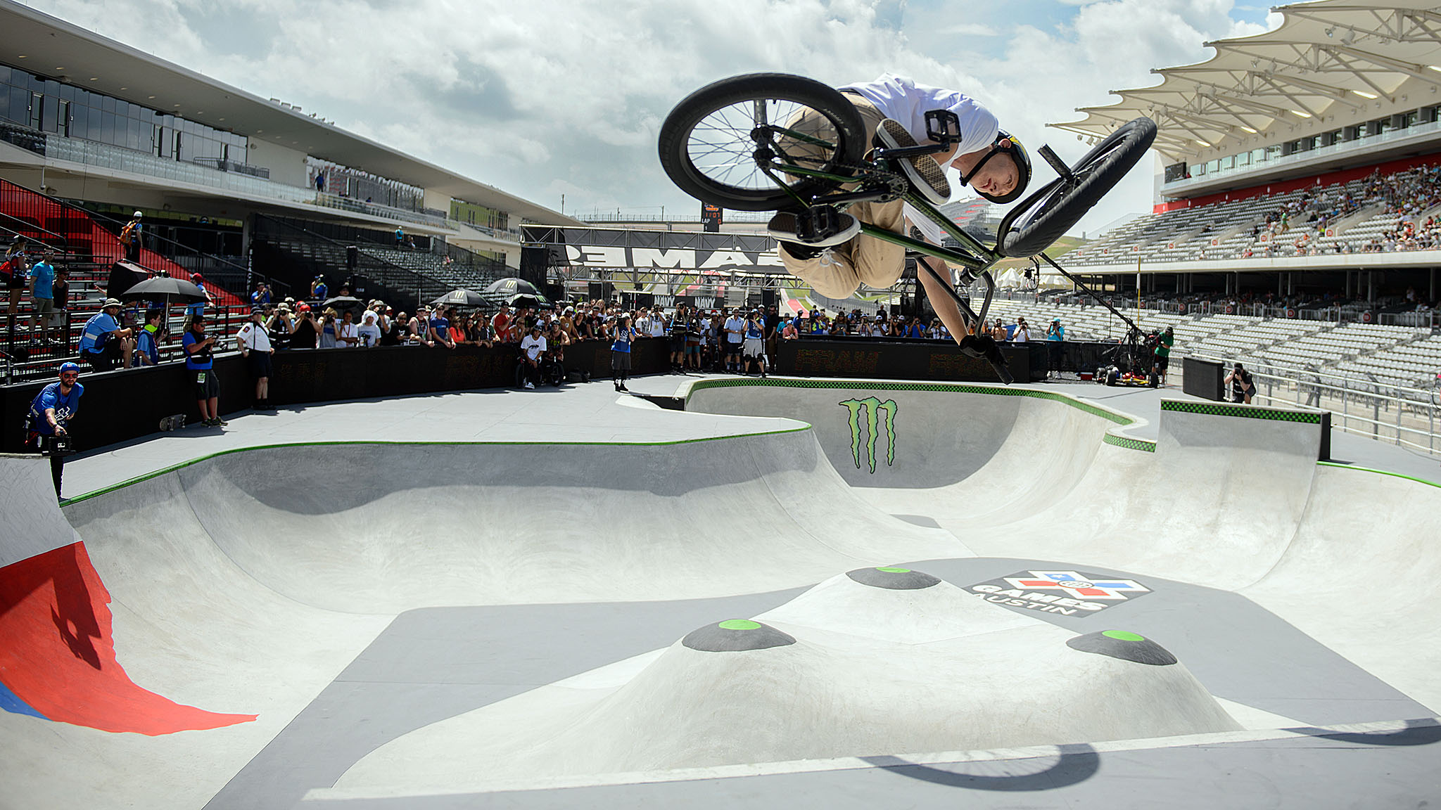 Austin local Chase Hawk was the fan favorite and the winner in BMX Park.