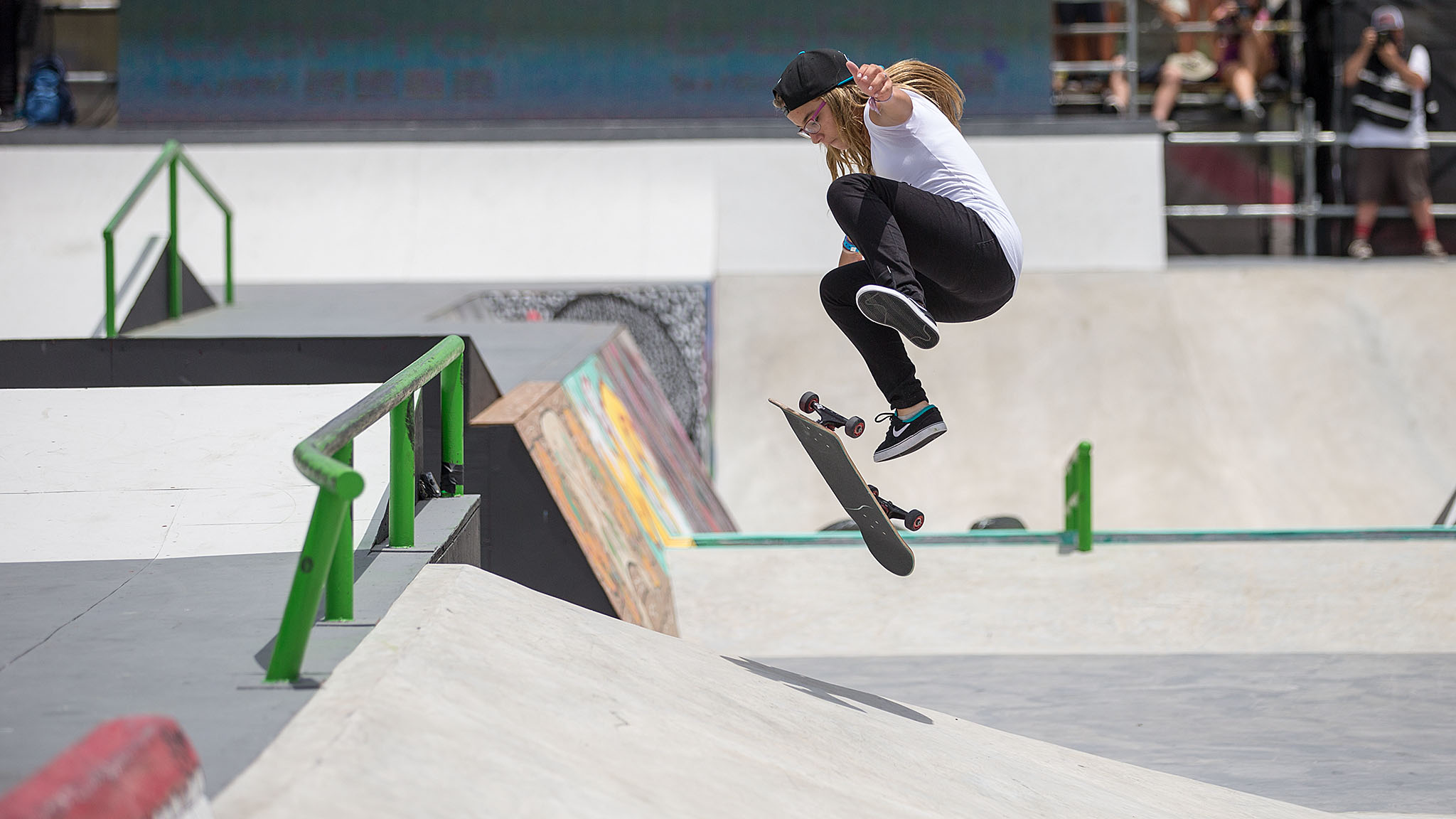 When 14-year-old Brazilian powerhouse Pamela Rosa made her X Games debut last year at age 13, nerves seemed to get the better of her. She landed at the bottom of the pack in both Foz do Iguacu and L.A. Rosa appears to have gotten contest jitters out of her system -- she threw and landed more tricks than almost every other competitor in the Women's Skateboard Street final to take her first medal, a silver.