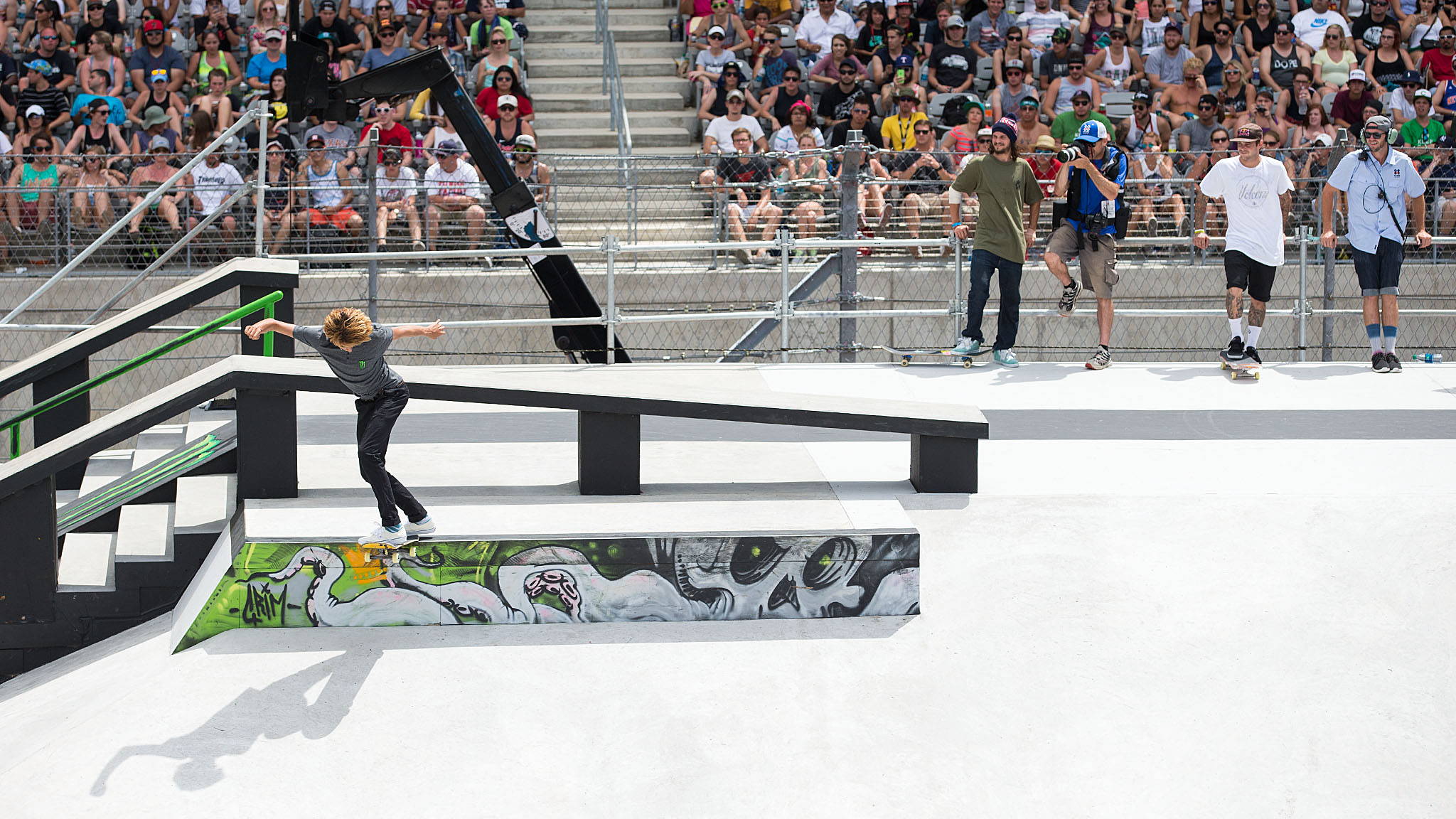 Curren Caples is normally known as a Skateboard Park specialist -- he won gold in that discipline at X Games Munich in 2013 -- but he squeaked his way into the Skateboard Street Round 1 on Sunday in Austin. The 18-year-old, who's the son of former surf pro Evan Caples, was edged out of the final by Sheckler on his last run in Round 1 and ended up in seventh place.