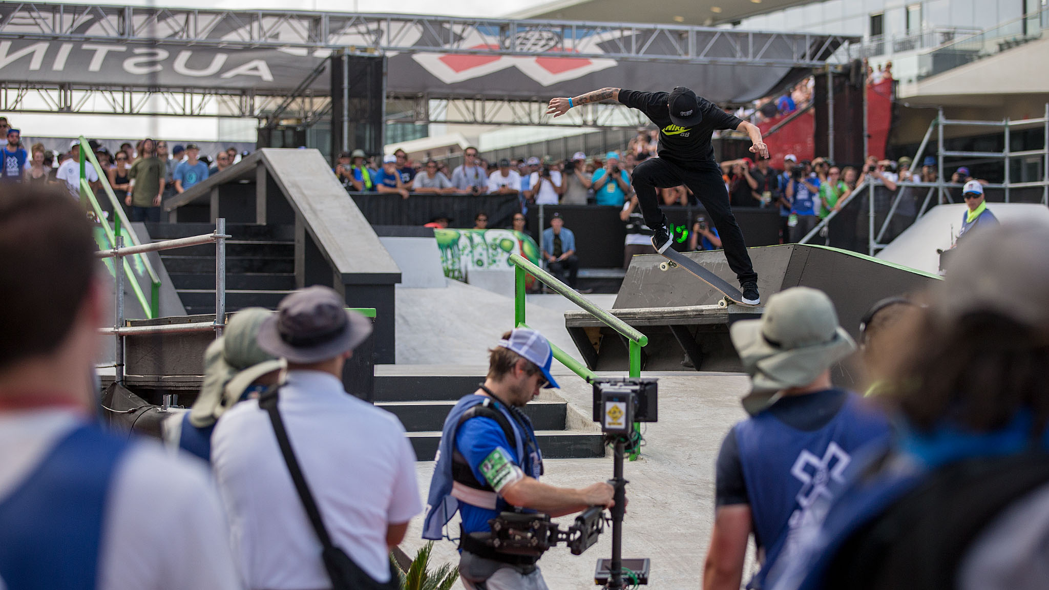 Brazilian street skateboarding prodigy Luan Oliveira -- whom many consider to be one of the few competitive street skateboarders who can best Nyjah Huston in a contest -- arrived in Austin with a new mustache and proceeded to annihilate the X Games street course with technical and consistent runs that earned him the Skateboard Street silver medal on Sunday.