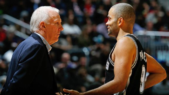 Gregg Popovich and Tony Parker