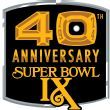 Super Bowl IX 40th Anniversary patch