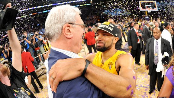 Phil Jackson and Derek Fisher