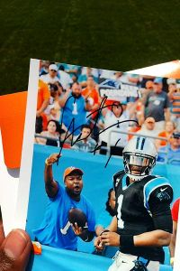 How Cam Newton made a fan's day -- twice