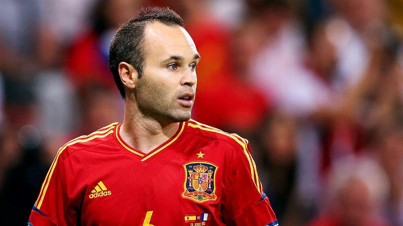 Andres Iniesta, Spain, midfielder