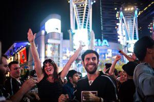 Los Angeles Kings Fans Celebrate Team's Second Stanley Cup In Last 3 Years