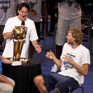 Mark Cuban and Dirk Nowitzki