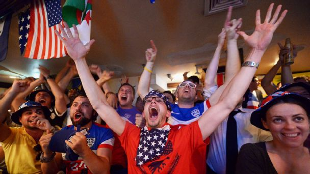 Soccer fans in New York City