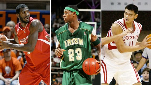 Greg Oden, LeBron James, Yao Ming