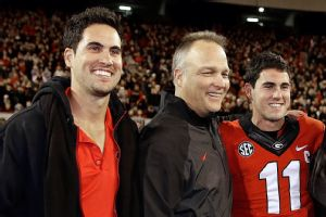Josh Murray, Mark Richt, and Aaron Murray