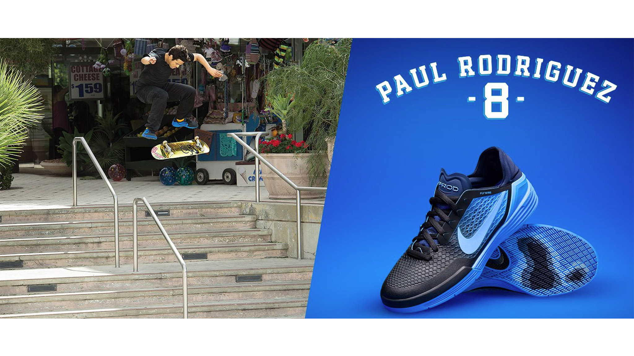 The P-Rod 8 shoe from Nike SB was released in conjunction with Go Skateboarding Day.