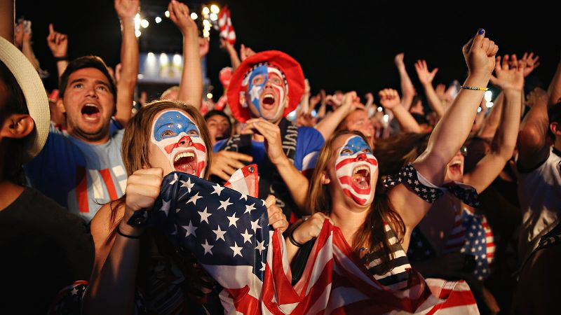 American fans experienced an array of emotions during Sunday's draw with Portugal.