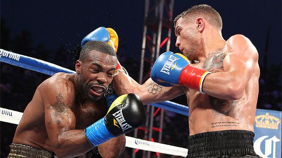 Vasyl Lomachenko and Gary Russell Jr.