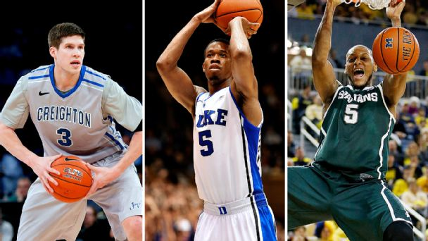 Doug McDermott, Rodney Hood, and Adreian Payne