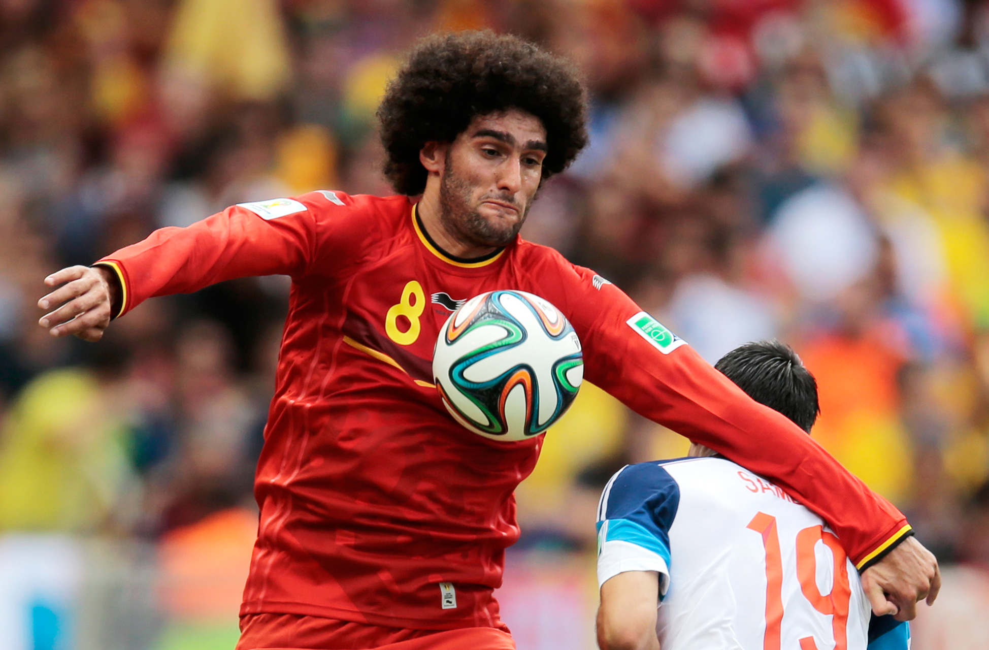 Marouane Fellaini joins on loan to strengthen the midfield