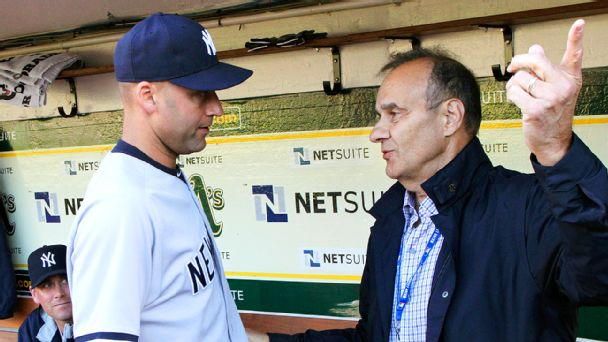 Derek Jeter and and Joe Torre