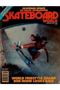 Shogo Kubo, seen on the cover of Skateboard World Magazine in 1978, was part of the original Z-Boys skateboarding team.