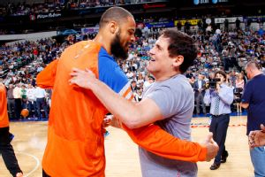 Tyson Chandler and Mark Cuban