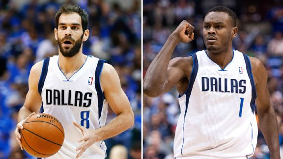 Jose Calderon and Samuel Dalembert