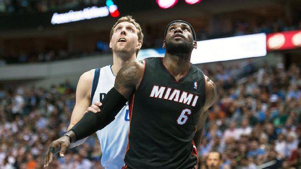 Dirk Nowitzki and LeBron James