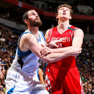 Kevin Love and Omer Asik