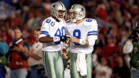 Alvin Harper and Troy Aikman