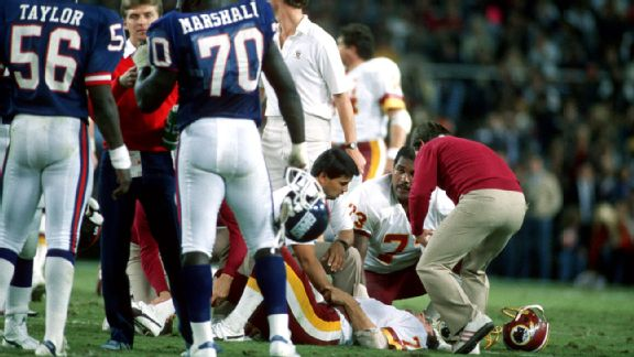 Lawrence Taylor and Joe Theismann