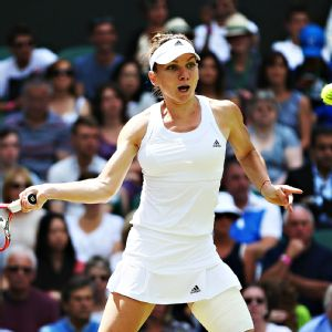 Simona Halep won 18 points on Sabine Lisicki's second serve en route to a victory in straight sets to advance to the semifinals at Wimbledon.