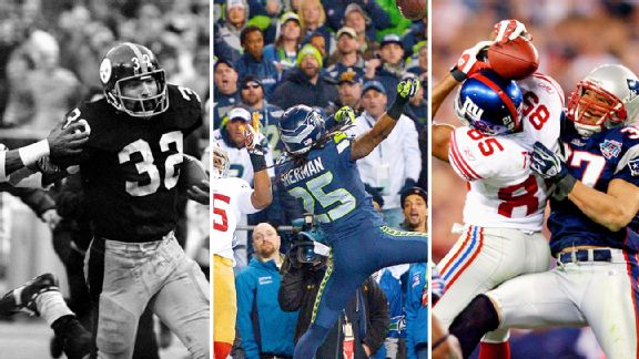 Franco Harris, Richard Sherman and David Tyree