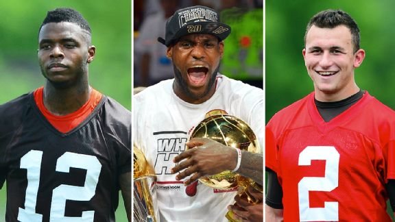 Josh Gordon, LeBron James & Johnny Manziel