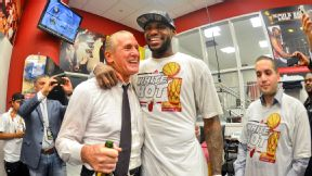 LeBron James and Pat Riley