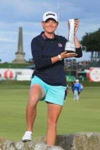 Stacy Lewis won the Women's British Open at St. Andrews last year and was runner-up at the U.S. Women's Open last month.