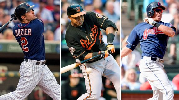 Brian Dozier,  Nelson Cruz and Michael Brantley