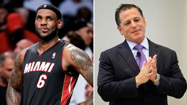 LeBron James and Dan Gilbert