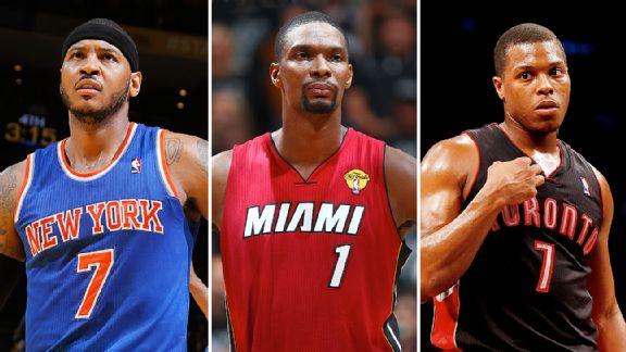 Carmelo Anthony, Chris Bosh & Kyle Lowry