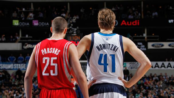 Dirk Nowitzki and Chandler Parsons