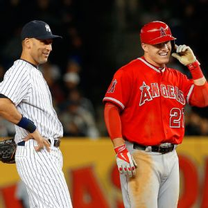 Mike Trout and Derek Jeter