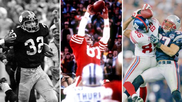 Franco Harris, Dwight Clark and David Tyree
