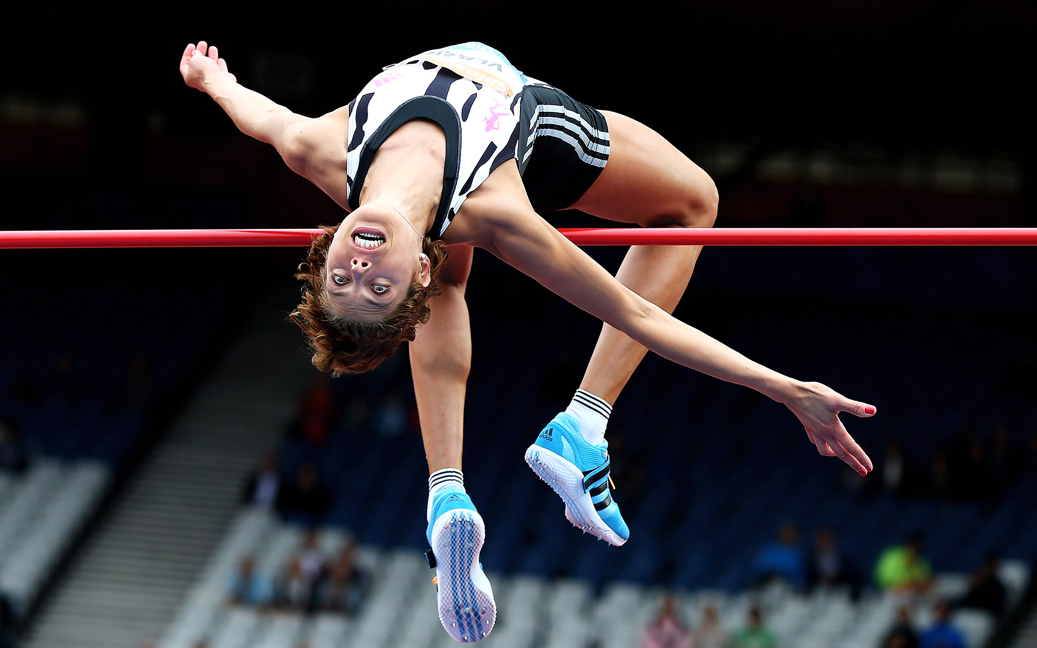Croatia's Blanka Vlasic in action in the women's high jump event during Day 2 of the Diamond League Sainsbury's Glasgow Grand Prix at Hampden Park in Scotland.