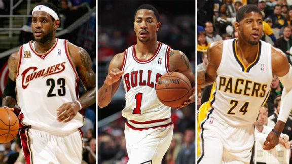 LeBron James, Derrick Rose, Paul George