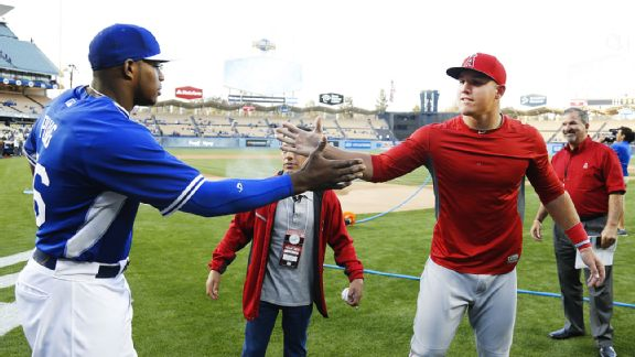 Yasiel Puig and Mike Trout