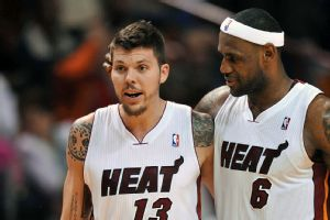 Mike Miller and LeBron James